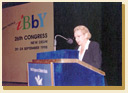 (Addressing the audience, IBBY Congress in New Delhi, 1998) click here